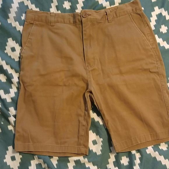 Khaki twill shorts